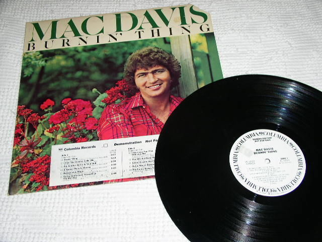 Primary image for MAC DAVIS PROMOTIONAL RECORD ALBUM VINTAGE 1975 LP