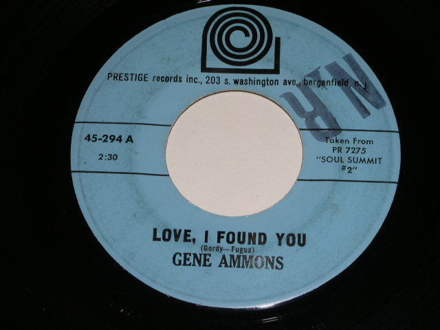 Primary image for Gene Ammons Love I Found You Tubby 45 Rpm Record Vintage Prestige Label