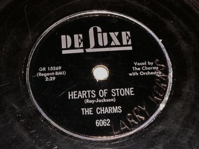 Primary image for The Charms 78 rpm record vintage Deluxe Records Hearts Of Stone