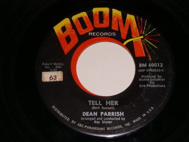 Primary image for Dean Parrish Fall On Me 45 Rpm Record Vintage Boom Label