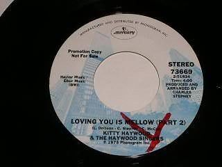 Primary image for Kitty Haywood Loving You Is Mellow 45 Rpm Record Promo