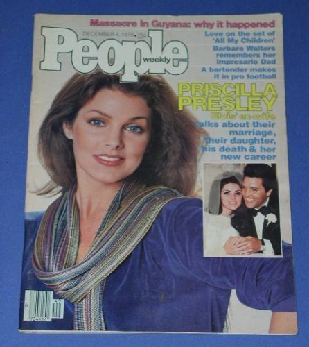 Primary image for PRISCILLA PRESLEY PEOPLE WEEKLY MAGAZINE VINTAGE 1978