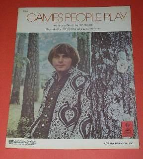 Primary image for Joe South Sheet Music Vintage 1968 Games People Play