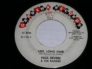 Primary image for Paul Revere Raiders Gardena Like Long Hair 45 Rpm Record