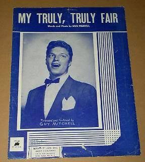 Primary image for Guy Mitchell Sheet Music My Truly, Truly Fair Vintage 1951