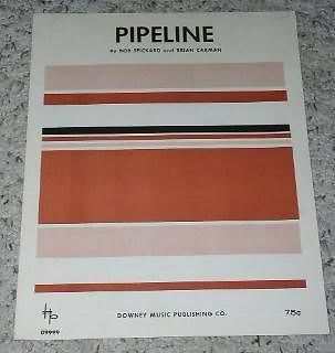 Primary image for Pipeline Sheet Music Vintage Downey Music 1964, Rare