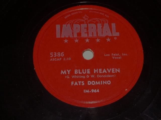 Primary image for Fats Domino My Blue Heaven 78 rpm record vintage Imperial Records