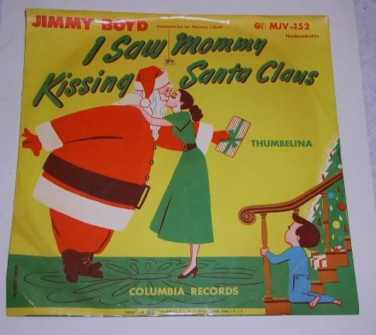 Primary image for Jimmy Boyd I Saw Mommy Kissing Santa Claus 78 Rpm Record With Jacket Childrens