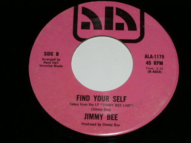 Primary image for Jimmy Bee All My Love Belongs To You 45 Rpm Record ALA Label