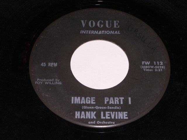 Primary image for Hank Levine Image 45 Rpm Phonograph Record Vogue Label