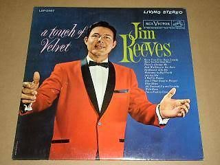 Primary image for Jim Reeves Touch Of Velvet Record Album 1962 RCA Label