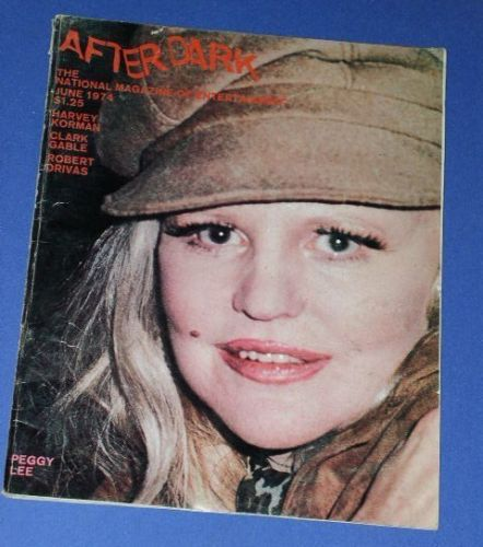 Primary image for PEGGY LEE AFTER DARK MAGAZINE VINTAGE 1974 GAY ORIENTED