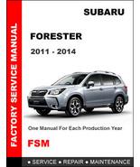 SUBARU FORESTER 2011 2012 2013 2014 FACTORY SERVICE REPAIR OEM WORKSHOP ... - $14.95
