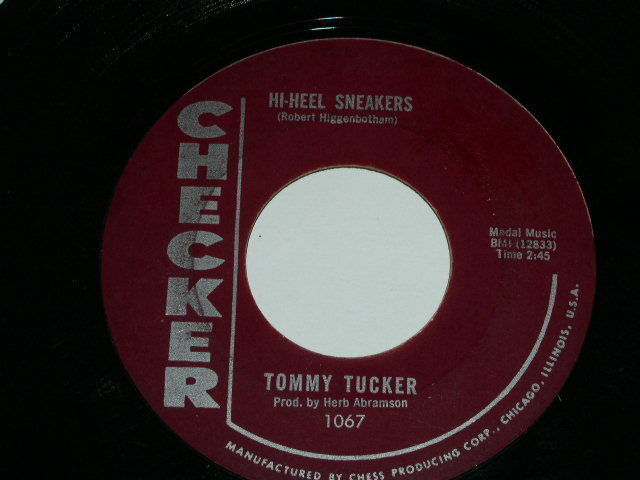 Primary image for Tommy Tucker Hi Heel Sneakers 45 Rpm Phonograph Record Checker Maroon