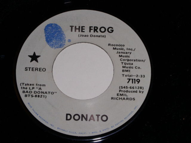 Primary image for Donato The Frog Soul 45 Rpm Vintage Blue Thumb