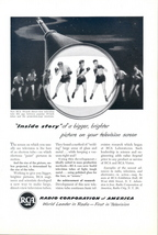 1951 RCA 16 inch direct view TV Television tube print ad - $10.00