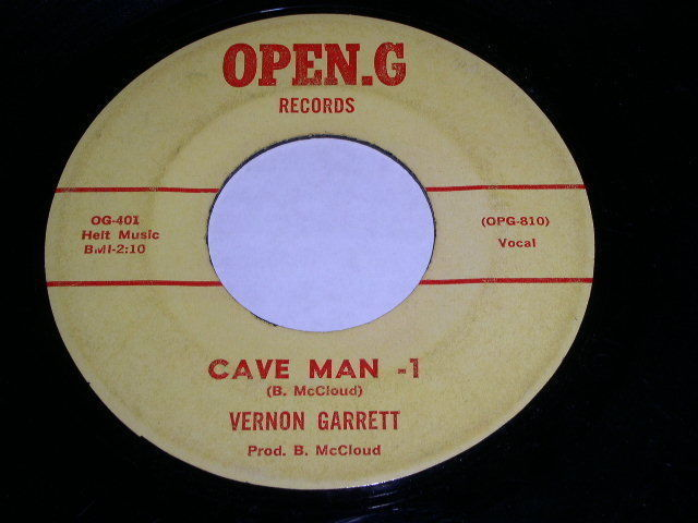 Primary image for Vernon Garrett Cave Man 45 Rpm Phonograph Record Open G Label