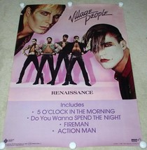 VILLAGE PEOPLE POSTER VINTAGE 1981 PROMOTIONAL - $49.99