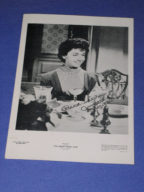 ANNETTE DISNEY POST CARD VINTAGE MICKEY MOUSE CLUB