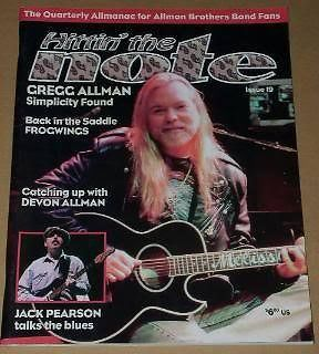 Primary image for Allman Brothers Hittin' The Note Magazine Vintage 1998