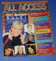 N SYNC SOFTBOUND BOOK VINTAGE 1999 ALL ACCESS - $24.99