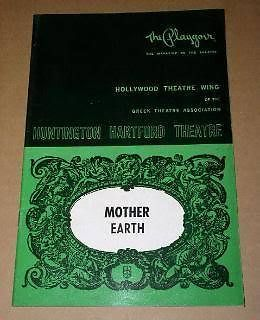 Primary image for Mother Earth Stage Play Vintage 1971 Playbill Huntington Hartford Playgoer