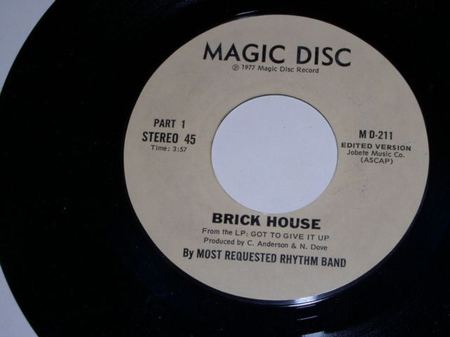 Primary image for Most Requested Rhythm Band Brick House Soul 45 Rpm Vintage
