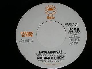 Primary image for Mother's Finest Love Changes 45 Rpm Record Promo