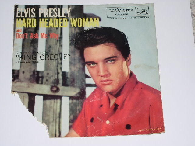 Primary image for Elvis Presley Picture Sleeve Vintage Hard Headed Woman
