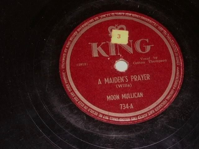 Primary image for Moon Mullican Maiden's Prayer 78 rpm record vintage King Records