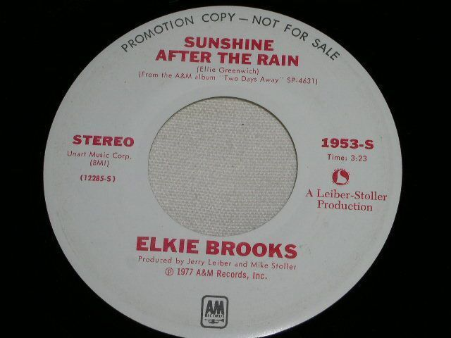 Primary image for ELKIE BROOKS SUNSHINE AFTER THE RAIN PROMO R&B 45 RPM RECORD VINTAGE 1977