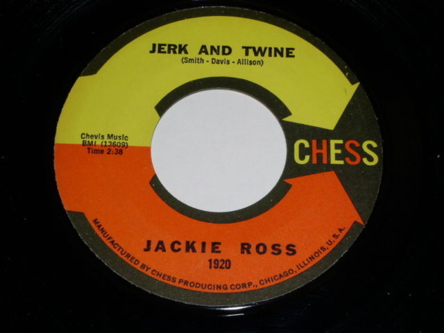 Primary image for Jackie Ross Jerk And Twine 45 Rpm Record Vintage Chess Label