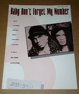 Primary image for Milli Vanilli Sheet Music Vintage1989