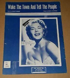 Primary image for Mindy Carson Sheet Music Vintage 1955 Wake The Town