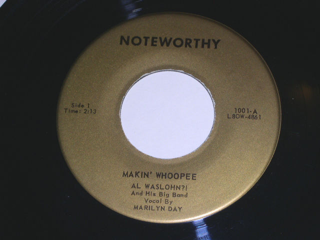 Primary image for Al Waslohn Makin Whoopee 45 Rpm Vintage Noteworthy Label