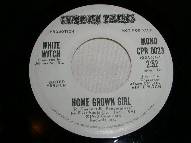 Primary image for WHITE WITCH HOME GROWN GIRL PROMO 45 RPM RECORD 1973