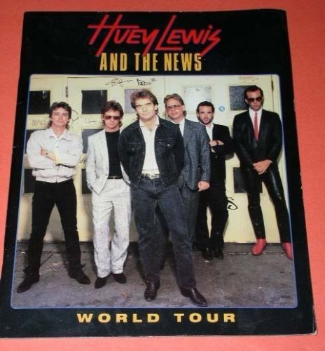 Primary image for Huey Lewis Concert Tour Program Vintage 1987 Ticket Stub Los Angeles Forum