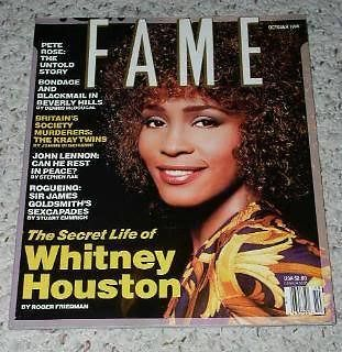 Primary image for Whitney Houston Fame Magazine Vintage 1990