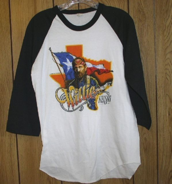 Primary image for Willie Nelson Concert Tour T Shirt Vintage 1984 Jersey