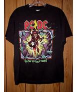 AC/DC Concert Tour T Shirt Vintage 1988 Blow Up Your Video - $164.99