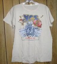 Yes Concert Tour T Shirt Vintage 1978 Tourmato M Kelley - $264.99