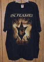 In Flames Concert Tour T Shirt Vintage 2003 Death Metal - $64.99