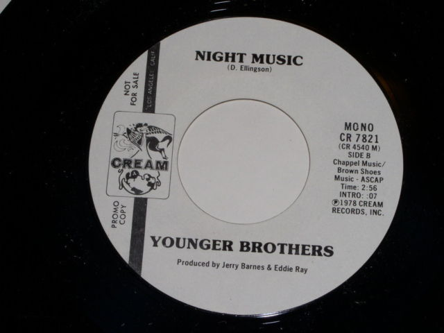 Primary image for Younger Brothers Night Music Promotional Soul 45 Rpm Vintage 1978