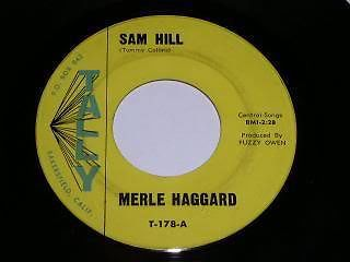 Primary image for Merle Haggard Sam Hill 45 Rpm Phonograph Record Vintage Tally
