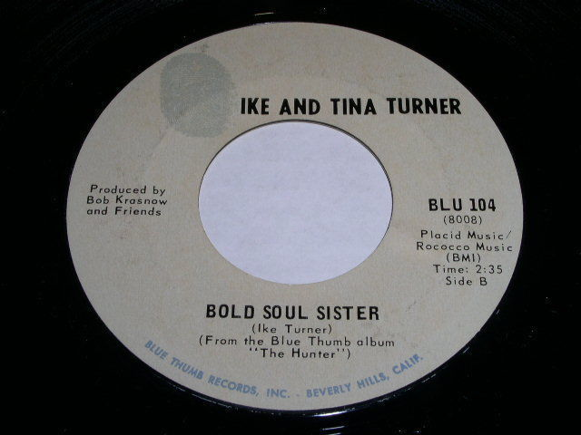 Primary image for Ike And Tina Turner Bold Soul Sister 45 Rpm Phonograph Record Blue Thumb