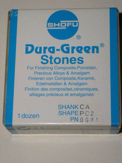 Primary image for Shofu Dental Lab Dura Green Stones CA Shank PC2