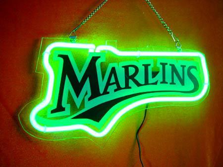 Primary image for MLB Miami Florida Marlins Neon Light Sign 10'' x 6''