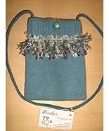 WOOLIES BLUE SHOULDER BAG HANDMADE RECYCLED DES... - $10.00