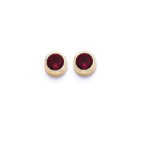 Primary image for 14K Gold Stud Screw Back Earrings 2mm for Children & Woman