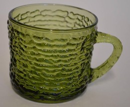 Anchor Hocking ~ Avocado Green Soreno Glass ~ S... - $9.95